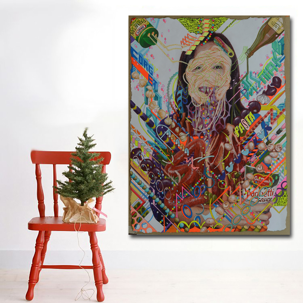 Cuadro Graffiti Us 4 51 48 Off Filipino Graffiti Painting Abstract Women Paintings Canvas Printed Wall Art Prints Poster Cuadro For Living Room Home Decor In