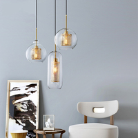 Nordic Loft LED Pendant Lights Modern Glass Pendant Lamp Living Room Restaurant Deco Kitchen Light Fixtures Suspension Luminaire