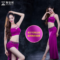 Bellydance Costume 2018 new Women Bellydance Wuchieal Brand Belly Dance Costume Sexy Top+skirt 2pcs/set QC2760