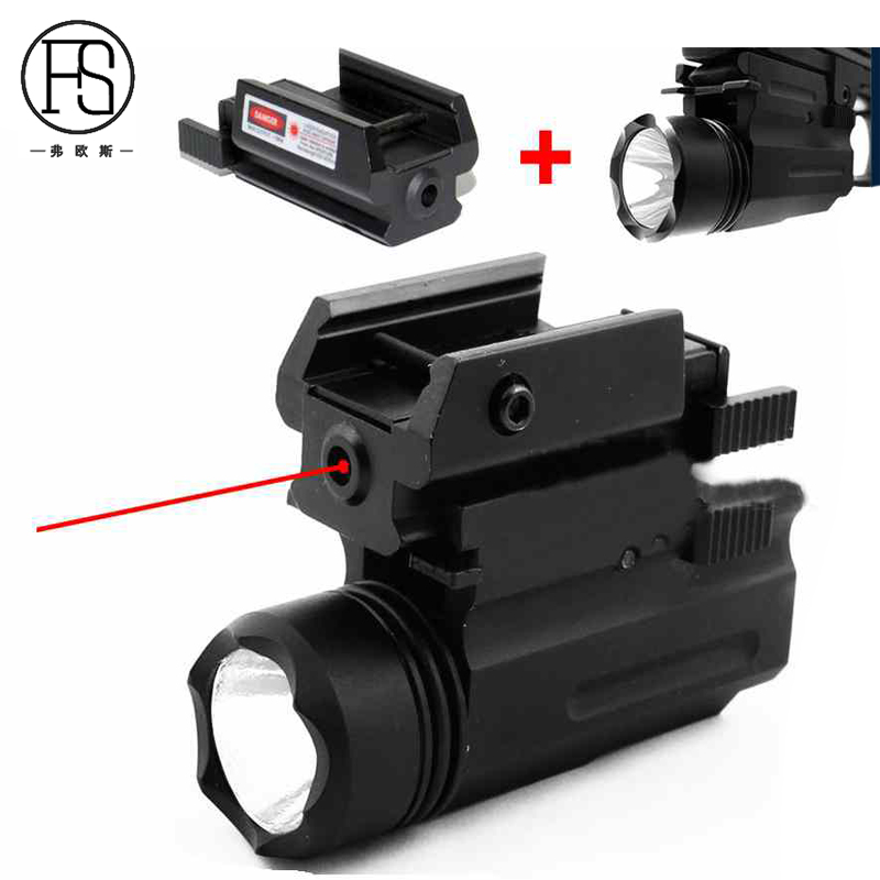 Glock Gun X100 Tactical Torch Hunting Shooting Red Laser Sight + LED Flashlight Combo Fit For 20mm Rail Pistol Use