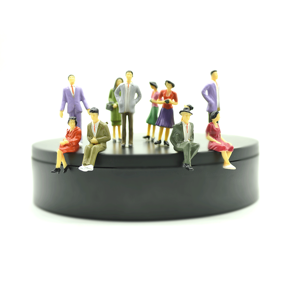 6CM Architecture Model Building Layout Model People Train 1/30 Scale Painted Figure Passenger