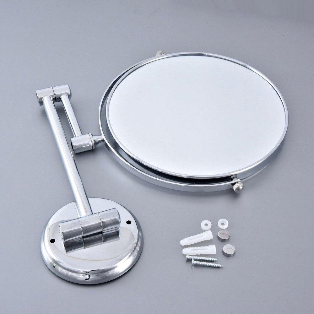 Полированный Хром Ванная Бритье Красота Макияж Увеличение Зеркало Двойной Боковой Настенный Навесной +% 2F Ванная Аксессуар mba633