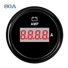 52 мм Цифровые амперметры 0-150A 9-32 в амперметр водонепроницаемый ЖК-дисплей красная подсветка для автомобиля лодки Авто грузовика