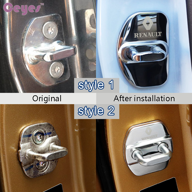 Image 5 - Ceyes Car Styling Auto Fit For Renault Megane 2 Duster Logan Captur Clio Laguna 3 Fluence Kadjar Car Door Lock Cover Car Styling-in Car Stickers from Automobiles & Motorcycles