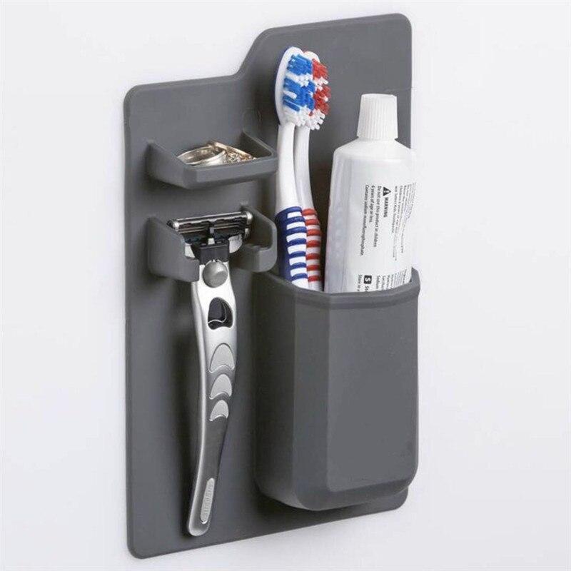New Arrivals Silicone Bathroom Organizer Mighty Toothbrush Holder Silicone toothbrush holder for bathroom Mirror shower