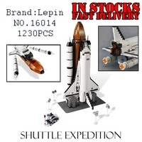 1230PCS Lepin 16014 Space Shuttle Expedition Spaceship Building Bricks Blocks Toys For Children Kids Compatible 10231