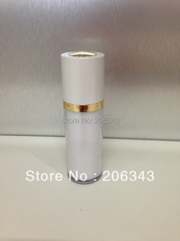 30 ml roterende akryl perle hvid pressepumpe lotion.emusionsflaske, kosmetisk beholder, trykpumpe flaske, kosmetisk flaske