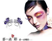 дэна 2 цвета реального австрийскими кристаллами модные серьги для женщин четыре листа клевера 78382