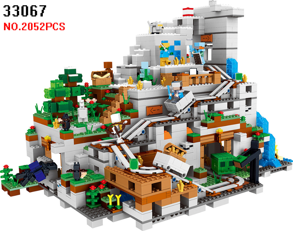 AIBOULLY 33067 2052pcs My Worlds The Mountain Cave Lele 10 Figures Building Block Compatible 21137 Brick Toys for Children herbert george wells the war of the worlds