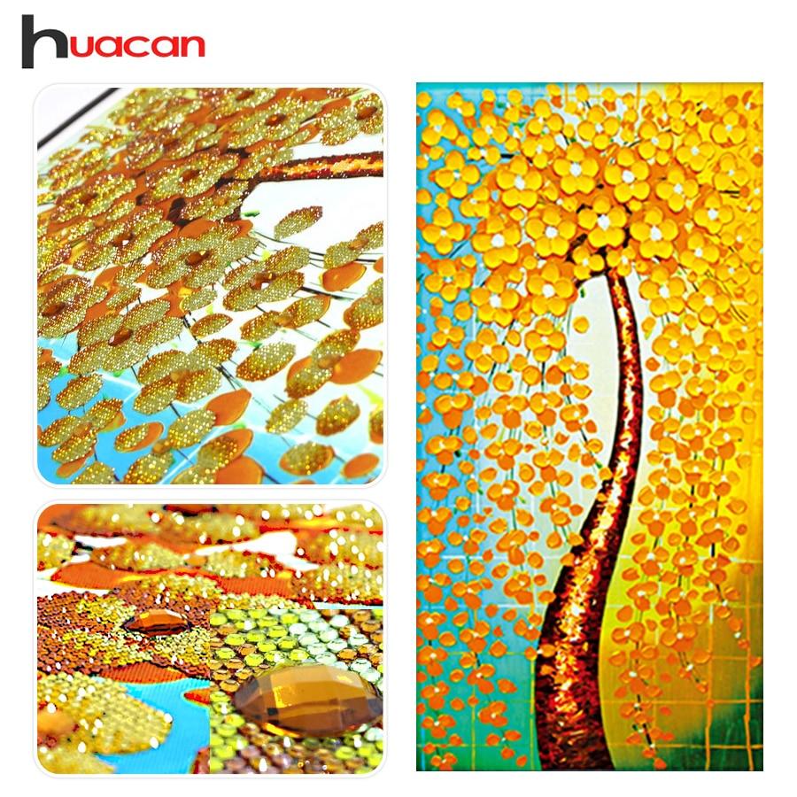 Huacan, Cash Cow, Diamantbroderi, Specialformad, Diamantmålning, Korsstygn, Träd, 3D, Diamantmosaik, Dekoration, Present