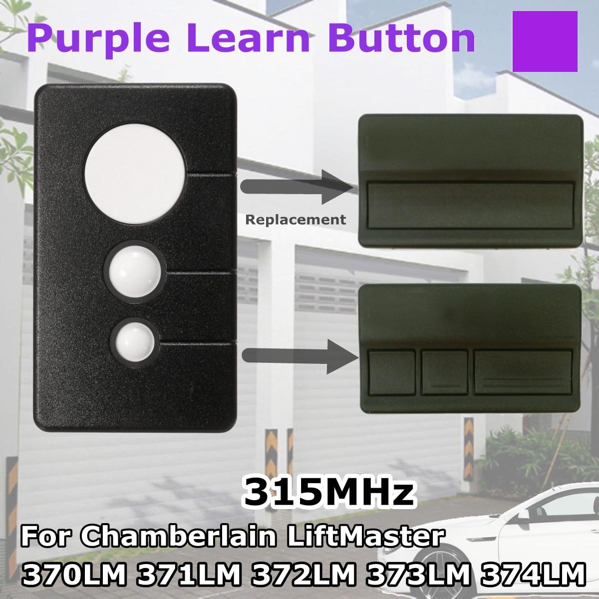 Black + Blue 2 Garage Door Remote Opener for Liftmaster 373LM Chamberlain 953CD