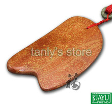 Wholesale and Retail Traditional Acupuncture Massage Tool / Guasha Board Natural 5A red yellow Bian-stone