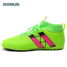 2016 Professional Indoor Soccer Shoes Men's Soccer Cleats Football Boots High Ankle IC TF Turf AG HG FG Training Game Shoes