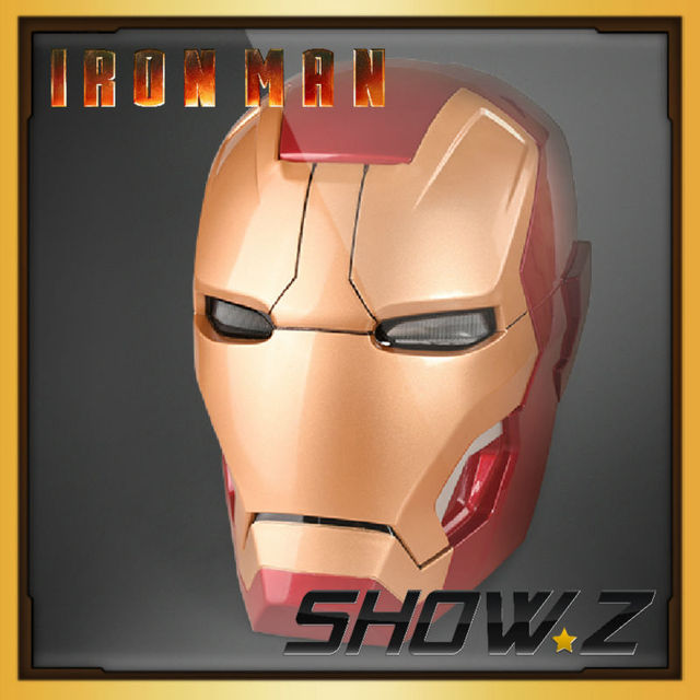[Remote Version] Cattoys 1:1 Full Scale Iron Man Wearable ABS Helmet Mark 42 Mark 43 MK42 MK43 Mask Replica with LED Light