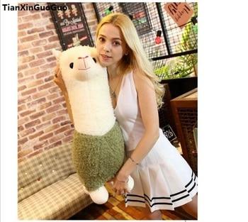 stuffed toy large 65cm green cartoon alpaca plush toy soft doll hugging pillow birthday gift s1050