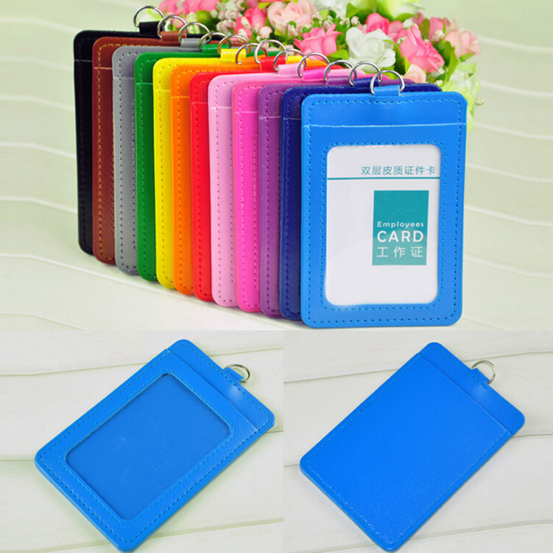 free shipping 10pcs pu leather school office business vertical id