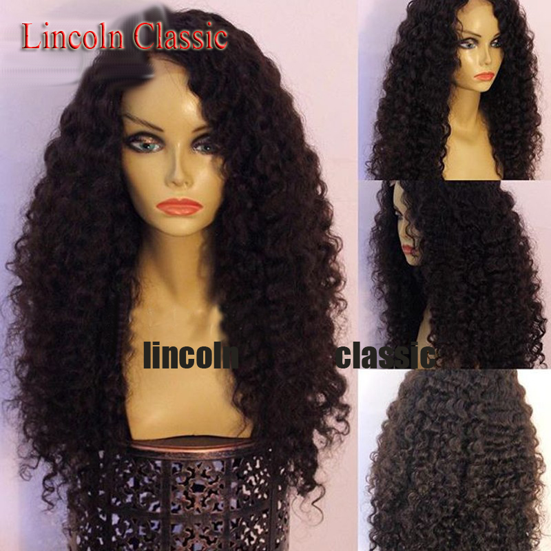 Mongolian Full Lace Human Hair Wigs Kinky Curly Full Lace Wig Glueless Curly Lace Front Wig