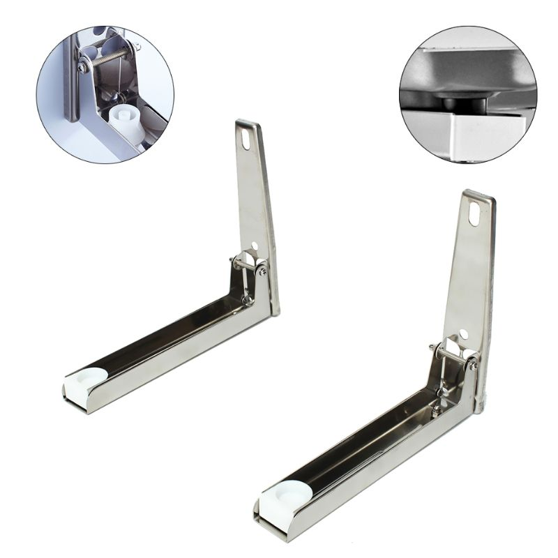 Heavy Duty Folding Shelf Brackets Support Frame Steel Foldable Stretch Shelf Rack Microwave Oven Wall Mount Bracket
