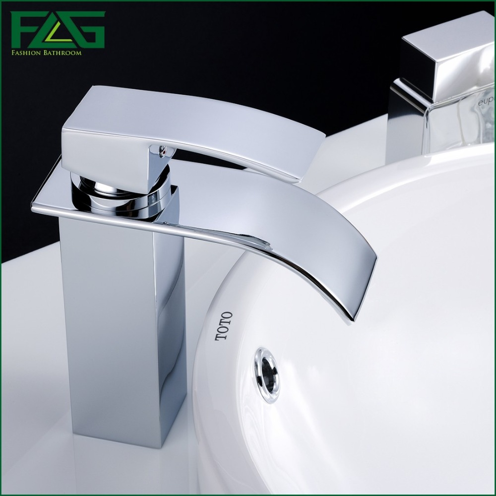 FLG European Nordic Retro Basin Faucet Chrome Cast Waterfall Faucet ...