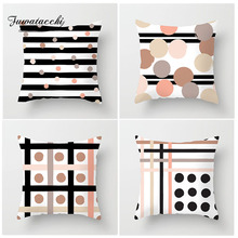 Fuwatacchi Endless Dot Stripe Cushion Cover Various Geometric Style Pillow for Bedroom Sofa Home Decoration Accessories