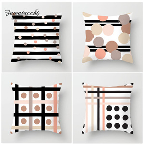Fuwatacchi Endless Dot Stripe Cushion Cover Various Geometric Style Pillow Cover for Bedroom Sofa Home Decoration Accessories