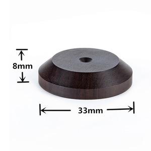 Image 3 - 33mm x 16mm רמקול ספייק בידוד אבוני עץ Stand רגליים בסיס HIFI מבודד עץ