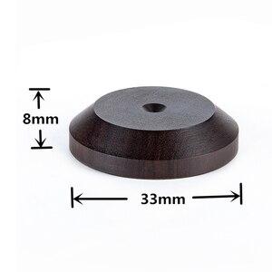 Image 3 - 33mm x 16mm haut parleur pic Isolation ébène bois support pieds socle HIFI isolateur en bois