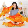 40cm new 3D simulation red carp pillow PP plush animal fish toy 1pcs free delivery child birthday gift