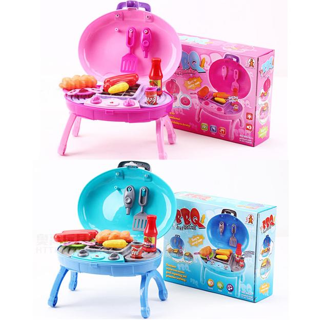 Los nuevos Niños Del Cabrito juguete de Simulación de Cocina Eléctrica Parrilla de BARBACOA/barbacoa con SONIDO/LUZ Casa de Juegos para Niños Juguetes Para bebés