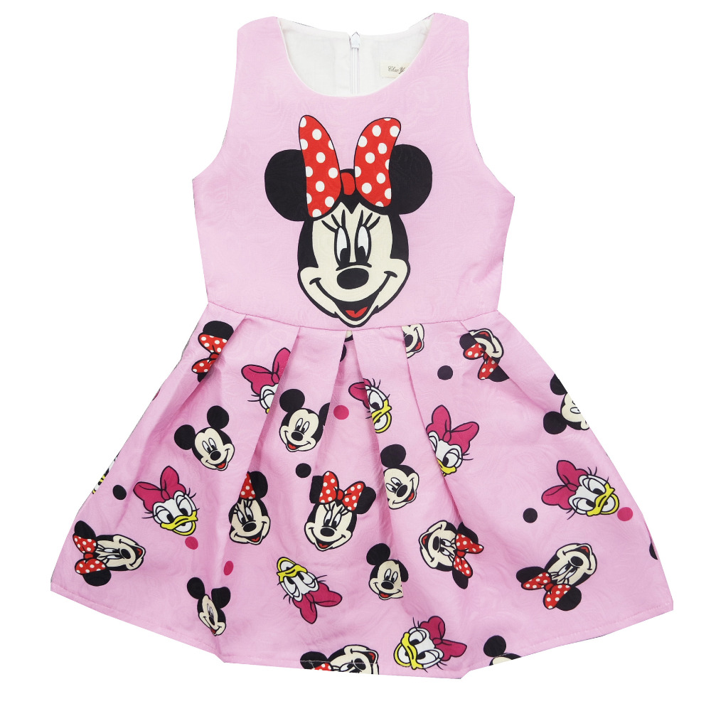 New 2017 Minnie Baby Girl Dress Cartoon Printed Infant