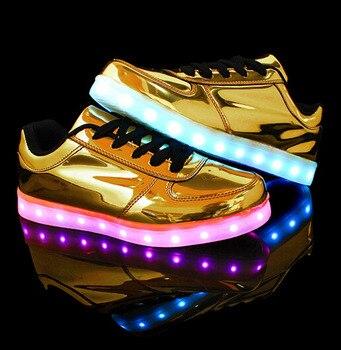 Led Shoes Women Luminous Shoes 7 Colors Women Fashion Basket Led Light Up Shoes Size Women Fashion Led Shoes
