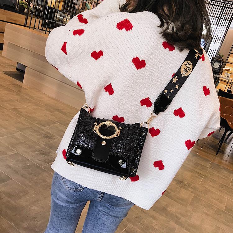 Women Patchwork Handbag Crossbody Bag Soft Leather Square Casual Ladies Chain Shoulder Girl Chain Messenger Satchel Bag louis 28