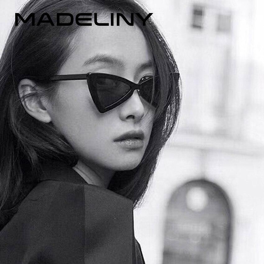 8aaa7dc03aab6 MADELINY Nova Borboleta Moda Feminina Estilo Óculos De Sol 2018 de  Personalidade De Luxo Óculos De Sol Olho de Gato Marca Shades UV400 MA232