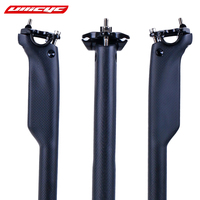 Newest Road Bike 3K Full Carbon Windreaver Racing Seatpost Mountain Carbon Bicycle Seatposts MTB Parts Customized