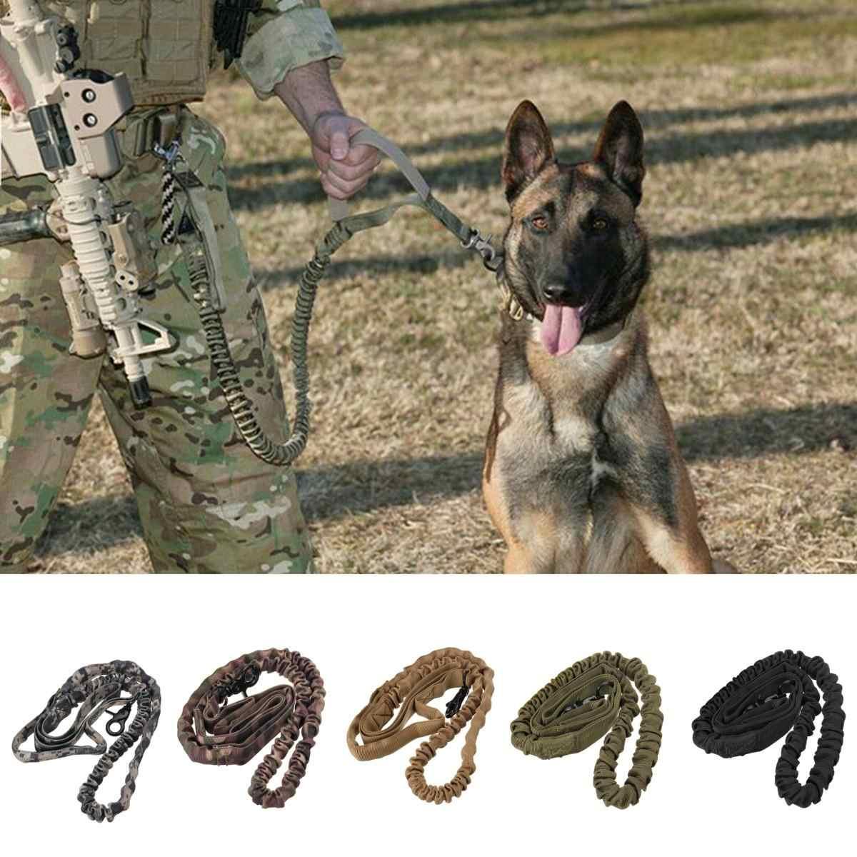 Армейский Тактический поводок для собак нейлоновая Натяжная поводки домашнее животное военный поводок для тренировок поводок для бега для средних больших собак