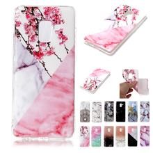 купить Phone Case For Samsung Galaxy A8 2018 TPU Silicone Marble pattern Cover Case For Samsung A8 Plus A8+ Cover for Galaxy A7 A5 2018 дешево