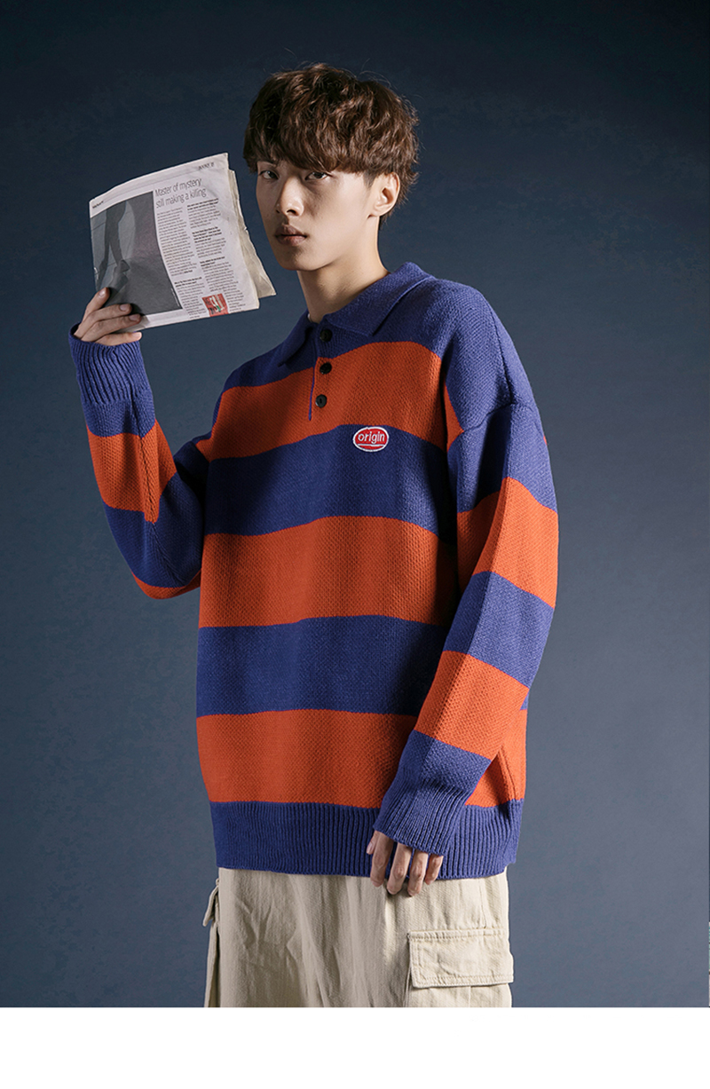 Korean Turtleneck Sweater Men Pullover Streetwear (11)