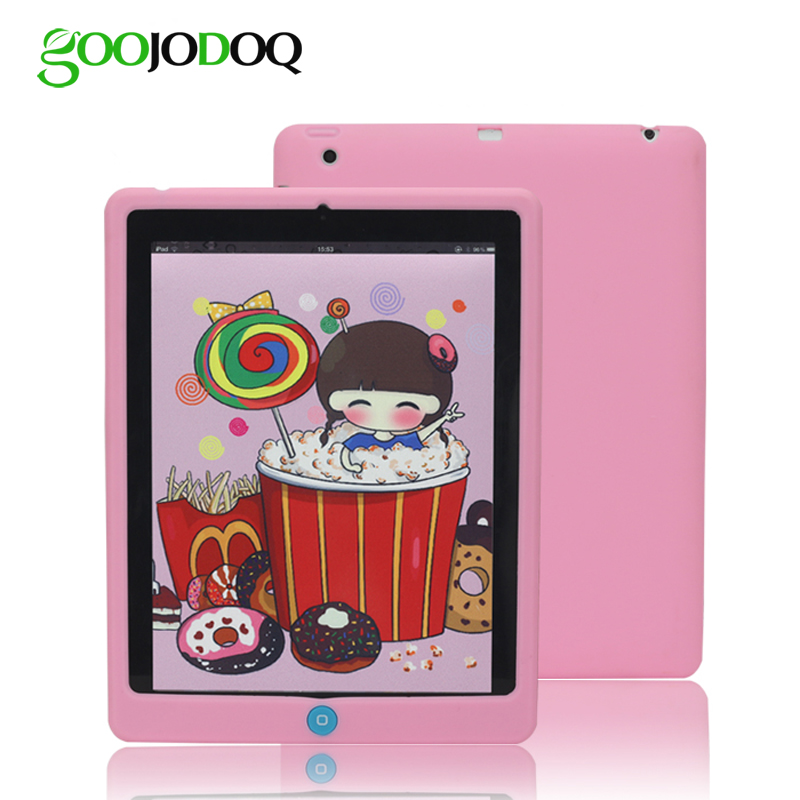 GOOJODOQ For iPad Mini 4 Case Mini 1 2 3 Cover Kids Students Baby Safe Silicone Soft Protective Case for Apple iPad Mini 4 grasale for meizu m3s mini m3 mini case soft slim silicone matte protective back cover cases for meizu m3 mini full cover