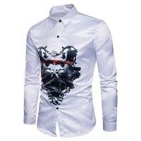 Männer stil 2017 neue Persönlichkeit freizeithemd männer Allgleiches Leopard Digitale muster baumwolle kleid langärmeligen t-shirt kleidung S-XXL
