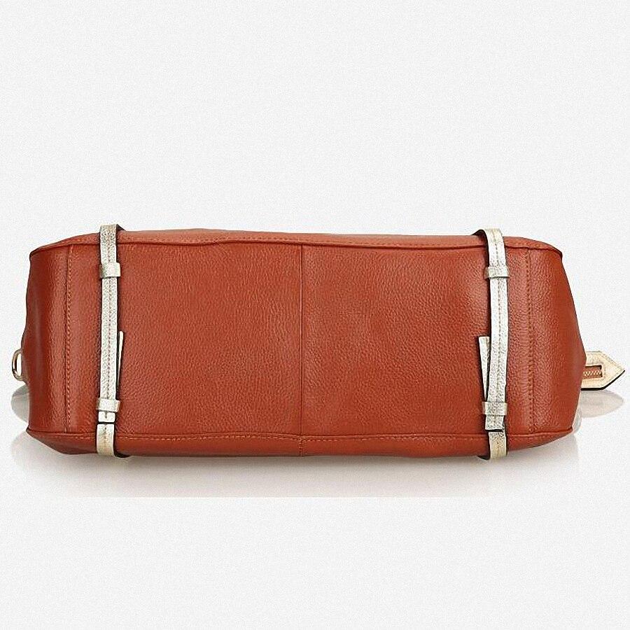Designer Women Genuine Leather Handbags Large Shoulder Bag Cowhide Ladies Tote Bags Black Red Casual Shopping Bag Bolsos LI-1658