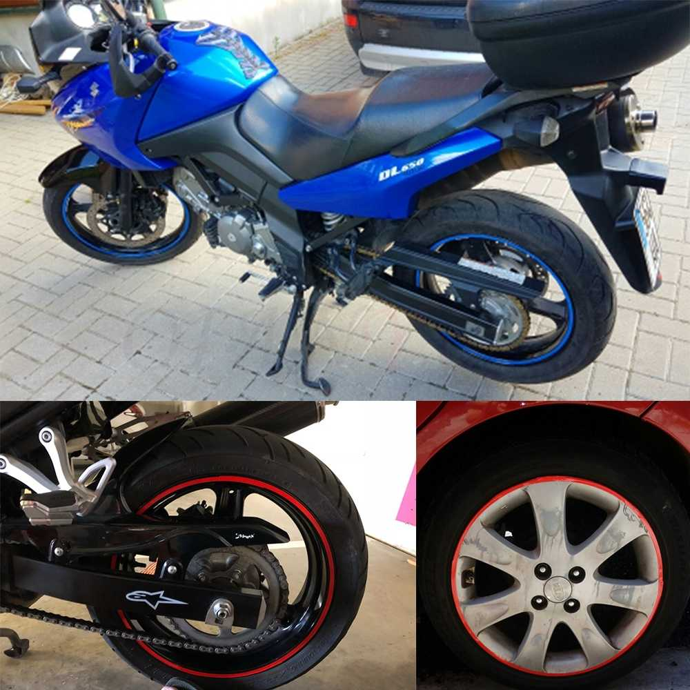 รถจักรยานยนต์รถจักรยานยนต์ล้อสติกเกอร์สะท้อนแสง Decals ขอบเทปรถ/จักรยานสำหรับ Honda CB190R VT1100 GROM MSX125 XADV 750 X ADV X-ADV