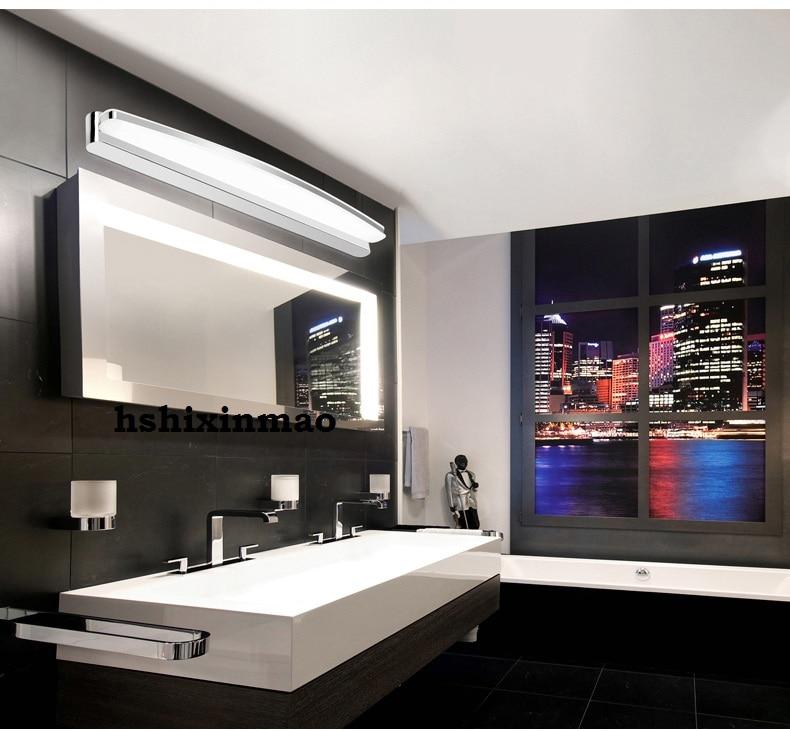 Mirror light cabinet wall lamp led bathroom dresser personality ...