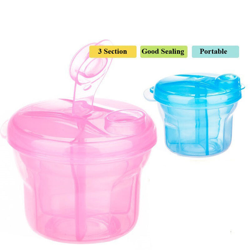 Portable Baby Milk Powder Formula Dispenser Food Container Storage Feeding Boxes Milk Powder Dispenser