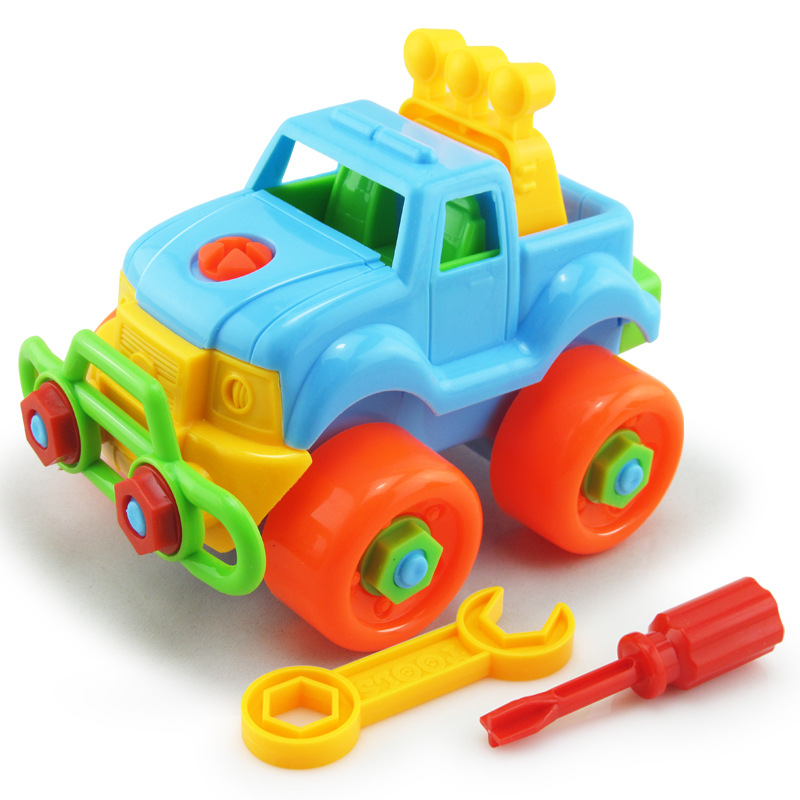 New Removable Children Puzzle Toys Constructor Plastic Motorcycles Is Good It Early Education DIY Screw Nut Assembly Toy For Kid