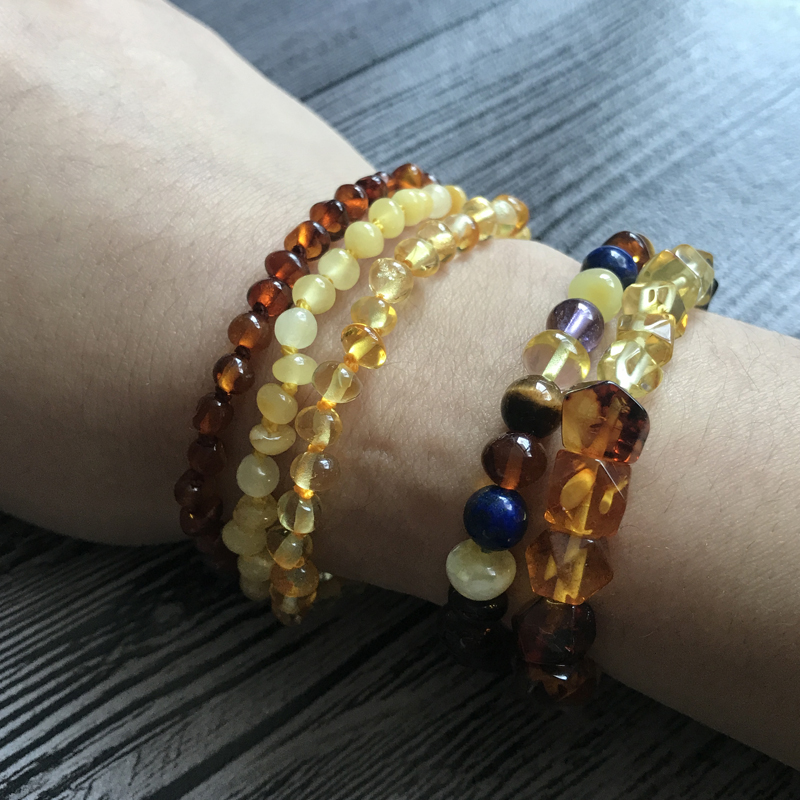 HTB1QFSZn3nH8KJjSspcq6z3QFXaA Yoowei Natural Amber Bracelet/Anklet for Gift Women Amber Bracelet Baltic 4mm Small Beads Baby Teething Custom Jewelry Wholesale
