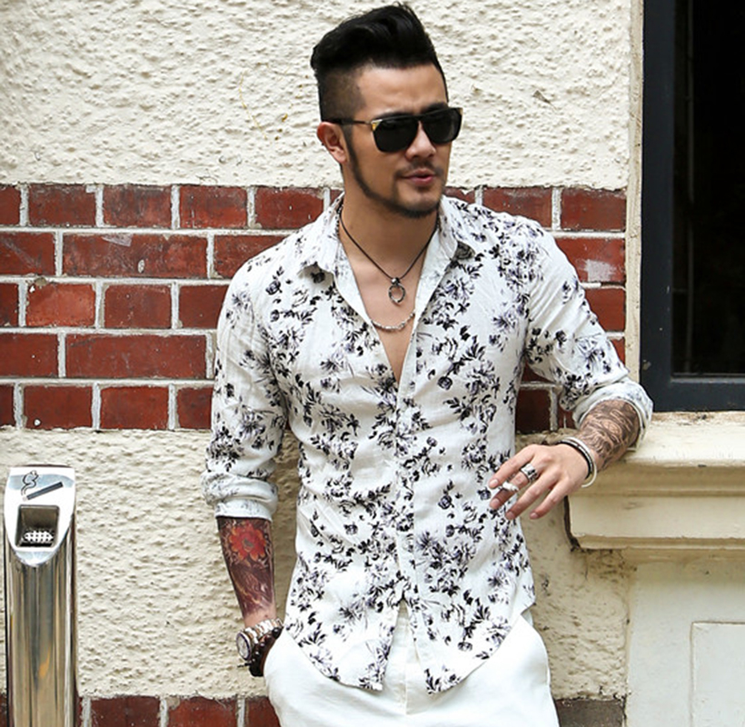 Compare Prices on Shirt Flower Men- Online Shopping/Buy Low Price ...