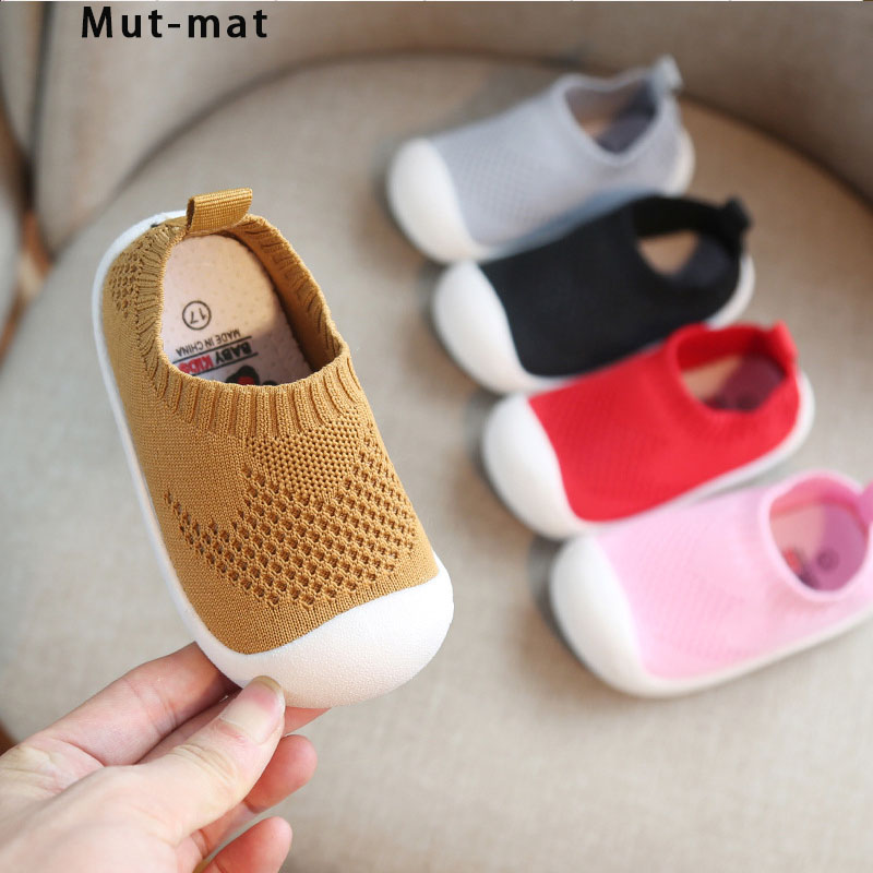 Children's Shoes 2019 Spring New Baby Toddler Shoes Baby Soft Bottom Shoes Boys And Girls Knitted Indoor Shoes