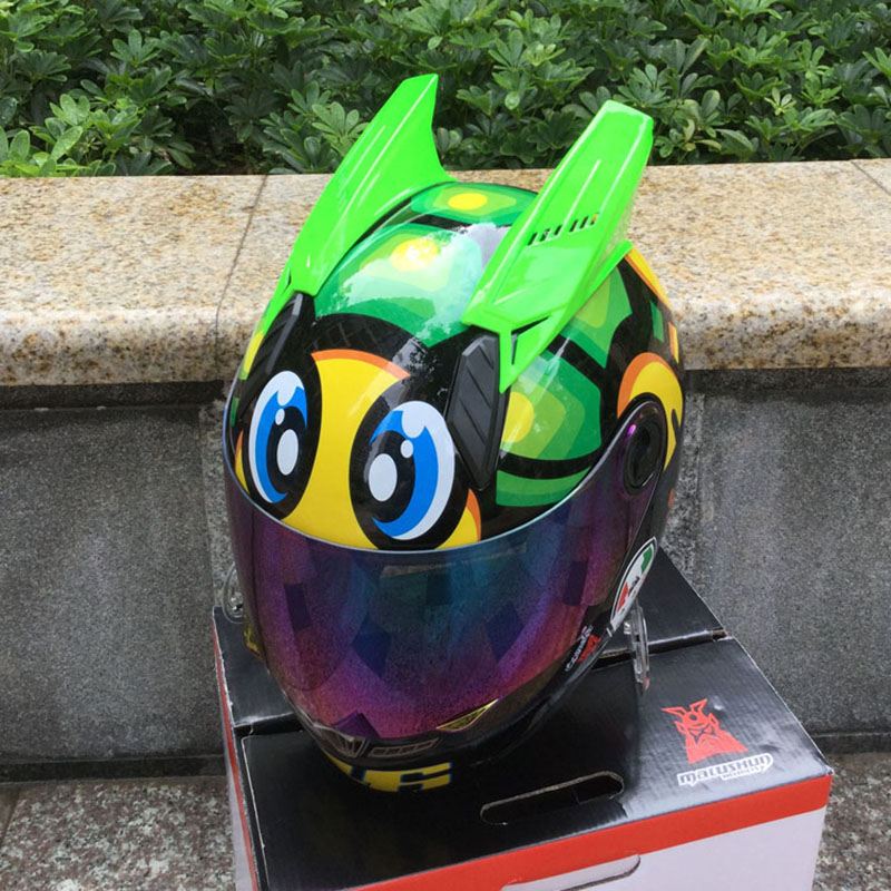 Motorcycle helmet MALUSHUN full face armet little turtle with horns fashion Unisex riding helmet in summer 1000m motorcycle helmet intercom bt s2 waterproof for wired wireless helmet