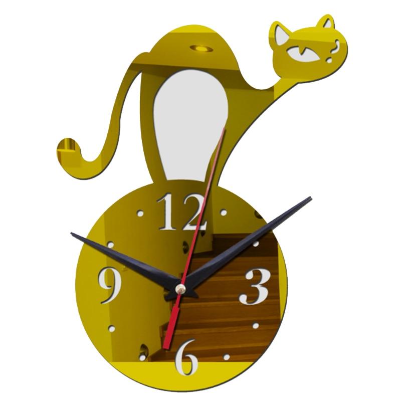 2017 new diy acrylic art wall clocks new arrival home decoration 3d ...