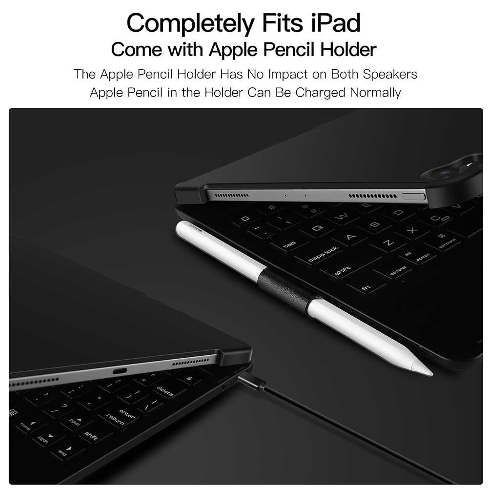 pretty nice 81ac8 a0ac8 DUX DUCIS Wireless Keyboard Case for iPad Pro 11 2018 Folding Keyboard  Tablet Cover for iPad Pro 11 with Pencil Holder Bluetooth
